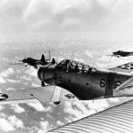 TBD Devastator code 6-T-16 of the VT-6 in flight – 1939