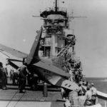 TBD Devastator – landing accident on USS Yorktown CV-5