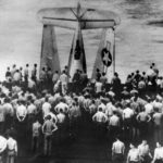 Airmen Buried at Sea in TBF Avenger from Deck of Carrier