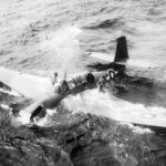 British Avenger landed in the sea off Okinawa
