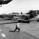 Avengers prepare to take off from USS Monterey to attack targets on Tinian June 1944