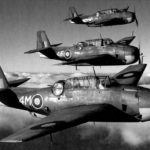 British Avengers Mk I 4M FN908, 4F and 4D of No. 846 Squadron FAA