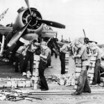 Crewmen Loading Incendiary Bombs on Avenger for Raid on Tarawa