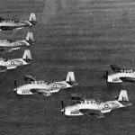 Fleet Air Arm Tarpons on patrol in formation 1943