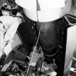 Loading a Mark XIII torpedo into the bomb bay of a TBF-1 Avenger – USS Lexington