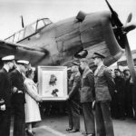 Painting of MIA Ace Gregory Boyington presented to his Mother