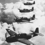 TBF Avenger bombers in echelon formation