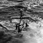TBF Avenger crashes in Pacific 1945