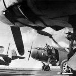 TBF Avengers on deck of USS Cowpens (CVL-25) 1943