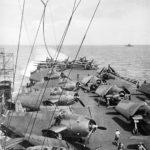 TBF Avengers of CVLG-50 on the flight deck of USS Bataan CVL-29 – July 20, 1944