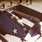 TBF Avenger on an aircraft carrier's elevator