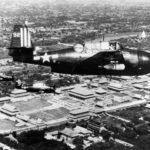 TBM-3E Avenger #92 of VT-89 in flight over Peking China on September 4, 1945