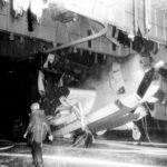 TBM of VT-12 on the hangar deck of the USS Randolph (CV-15) on March 11, 194