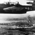 TBM Avenger #85 of VT-18 from USS Intrepid attack on Okinawa