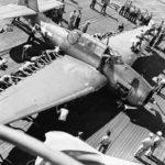 USS Hoggatt Bay CVE-75, June 16 1944, TBM Avenger of VC-14 crashed on landing