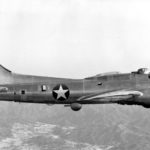 XB-38 Flying Fortress 41-2401 in flight