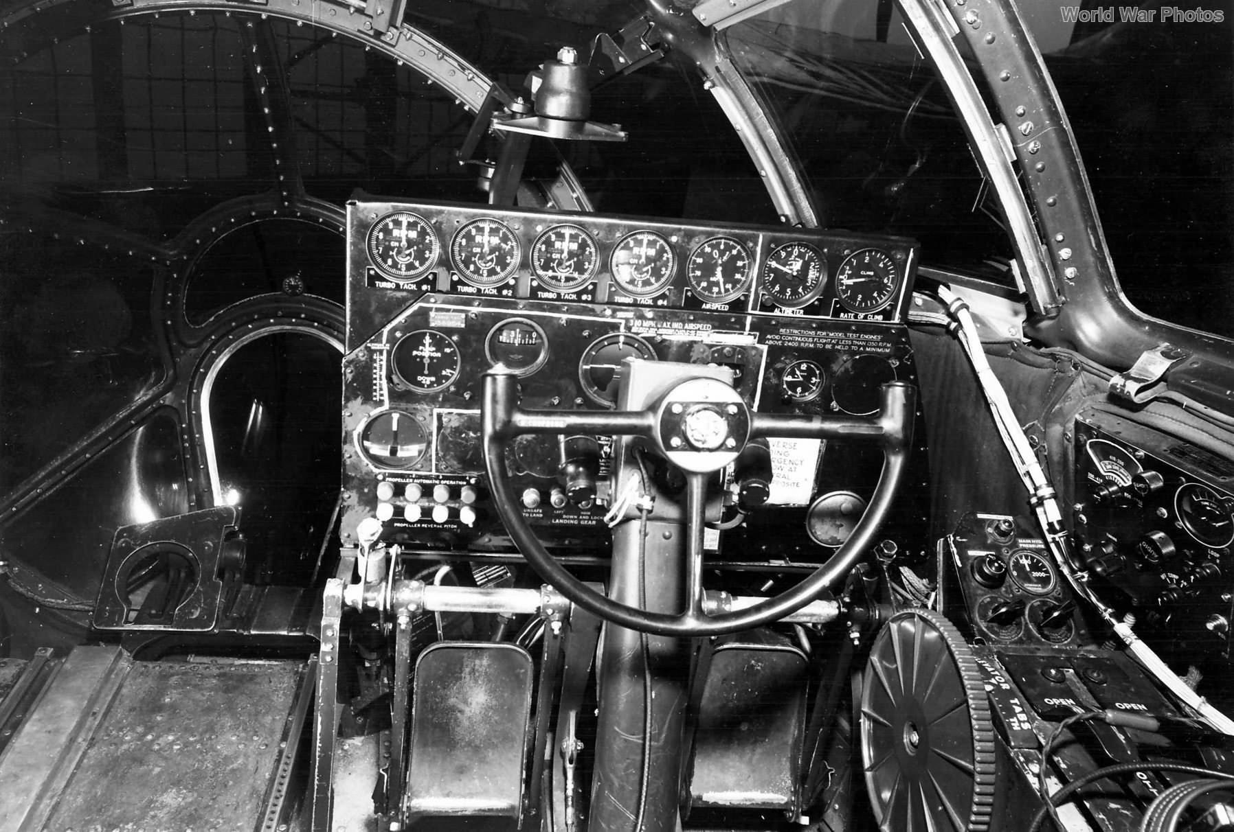 B-39 cockpit