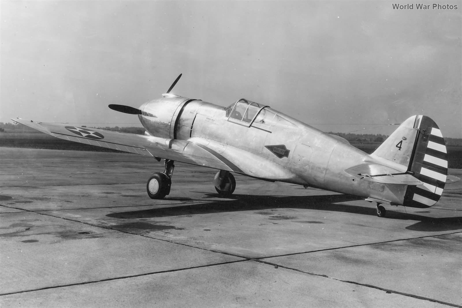 Curtiss XP-42 Over Ohio 1939 2