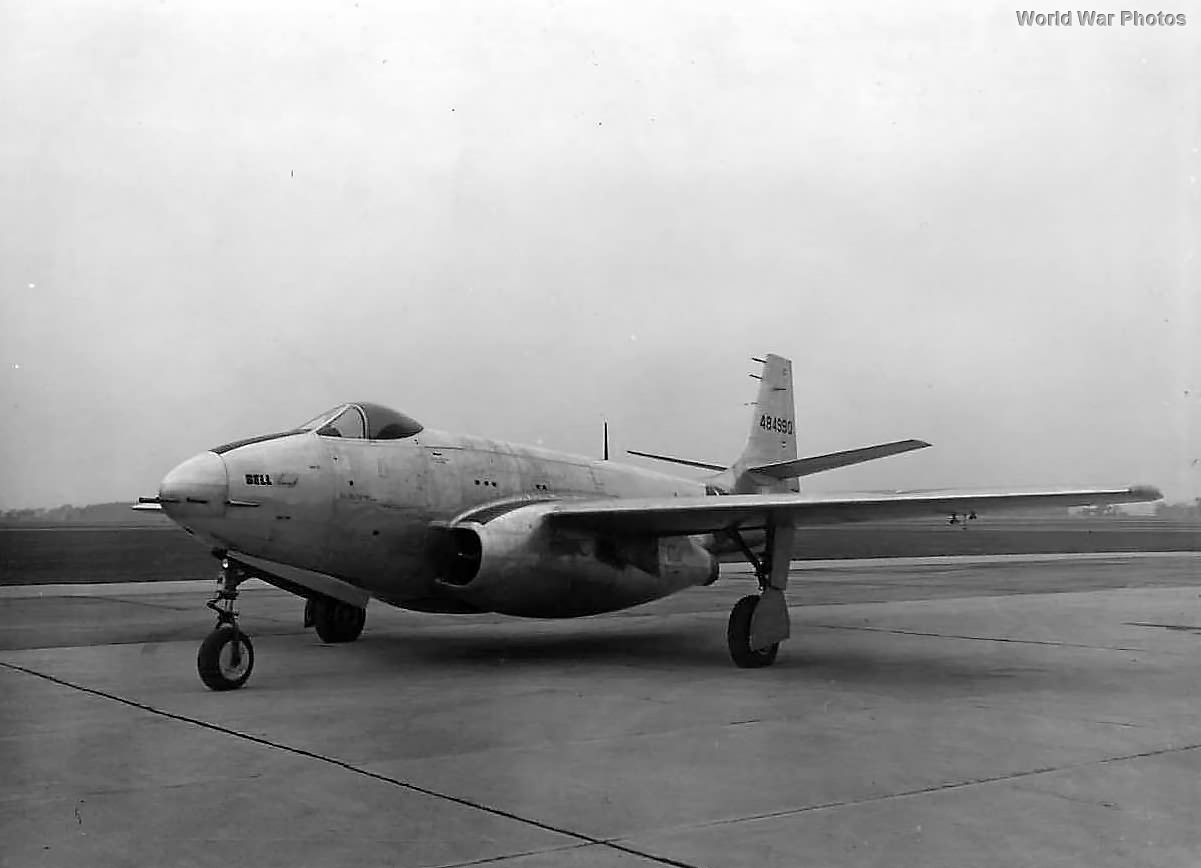 First prototype XP-83 at Wright Field 1945