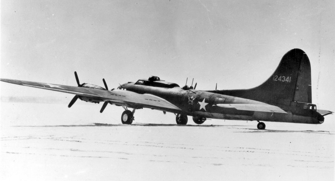Rear view of a XB-40 41-24341
