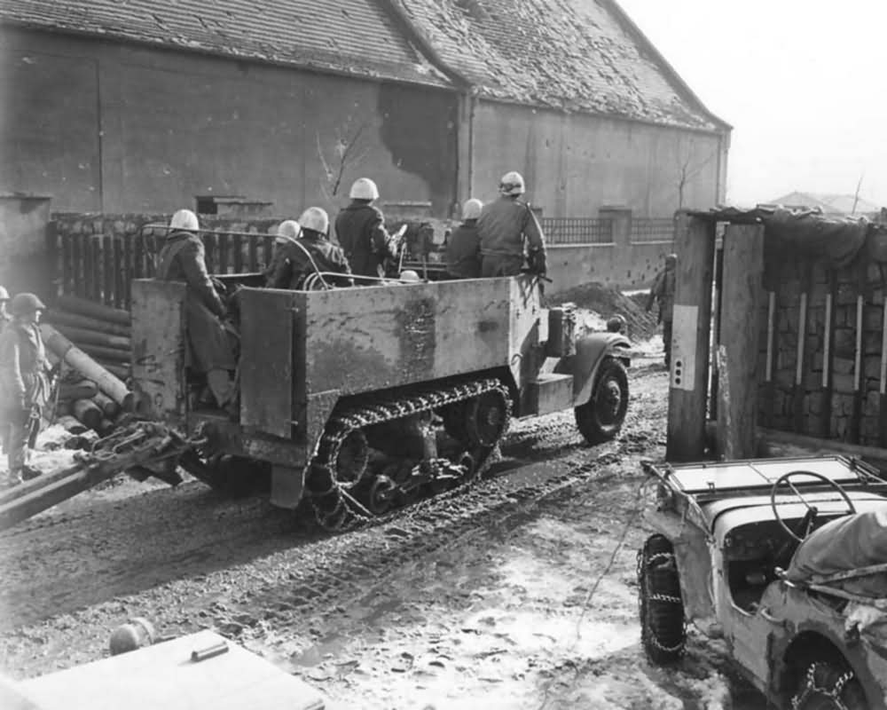 M3 Halftrack of 2nd Free French Armored Division Colmar France 1945