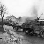 3rd Division M3A1 Half track with trailer Strasskirchen Germany