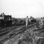5th Army Troops M3 Ambulance and M4 Tanks near Nettuno 1944
