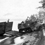 Marine tank destroyer M3 GMC with 75mm gun Cape Gloucester Pacific