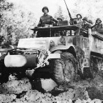 US 5th Army Troops in M3 Half Track in Venfron Italy 1944