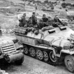 German M3 halftrack and SdKfz 251 Ausf C