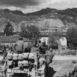 10th Mountain Division M7 Priest Firing Near Lake Garda Italy 1945