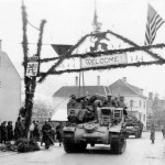 M7 Priest 105 mm Howitzer Motor Carriage Enters Luxembourg December 22 1944