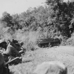 M7 Priest 105mm Self Propelled Gun in Action, Luzon Philippines '45
