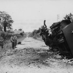 79th Infantry Division M8 Greyhound Destroyed By Mine La Haye Du Puits France