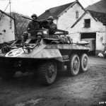 M20 Rusty Armored Car 6th Cavalry Group With Modified .50 Cal Ring Mount 3rd Army February 17 1945