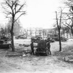 M8 of the 4th and 10th Armored Division in Bastogne
