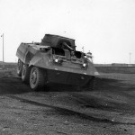 M8 Armored Car in field trials