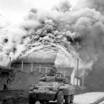 M8 Greyhound Armored Car in Action Belgium Sept 1944