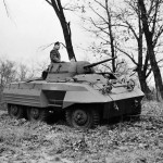 M8 Greyhound Armored Car in field trials 2