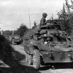 M8 Greyhound of 113th Cav Recon Squadron Spearheads 1st Army Drive into Holland September 1944
