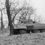 M8 light armored car Side View