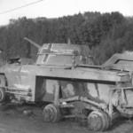 M8 Greyhound captured by Germans St Vith Belgium