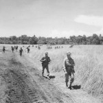 41st Division Soldiers Advances In Jungle Of Biak 1944