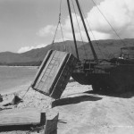 Amphibious DUKW Duck With Crane On Biak Beach 1944