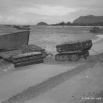 Landing Craft Unloads Supplies On Biak Beach