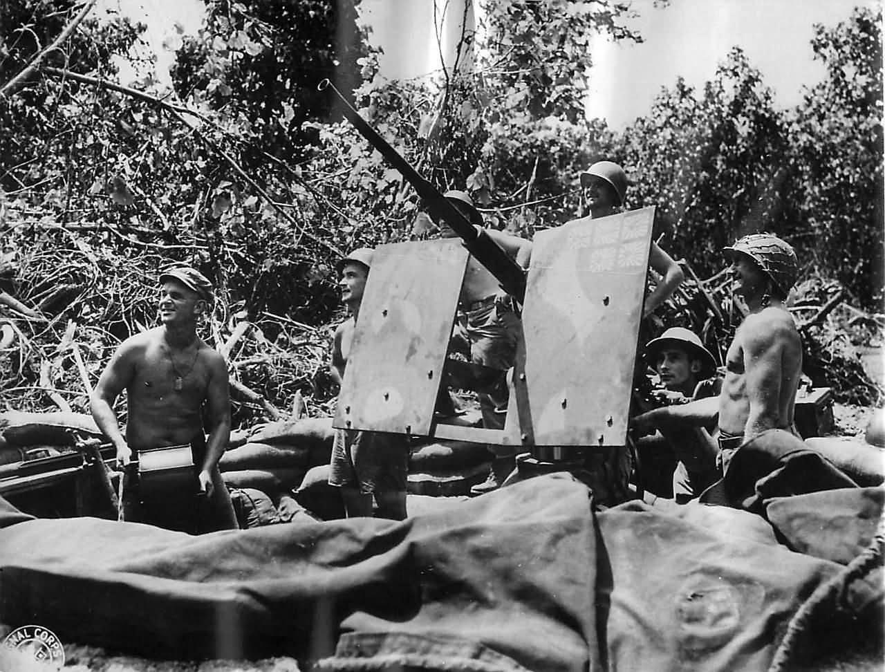 Marine 20mm AA Gun on Bougainville 1943
