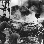 37th Division Flamethrower in Action on Bougainville 1944