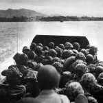 37th Division Landing Craft Head For Bougainville Beach 8 November 1943