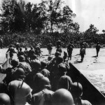 37th Infantry Divisions Combat Team 148 Lands on Bougainville 1943