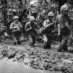 3rd Marines Division Advance through Mud on Numa Numa Trail Bougainville 1944